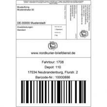 Paketmarken Online Nordkurier Logistik Brief Paket Geschickt